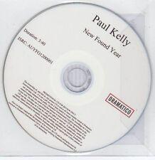 (EG82) Paul Kelly, New Found Year - 2013 DJ CD