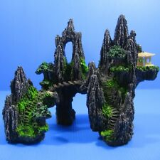 "Aquarium Ornament Decorations Mountain View 7.6"" - Fish Tank Tree Cave Bridge"