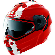 Caberg Duke II Legend Red/white Motorcycle Flip up Helmet XL 0604285
