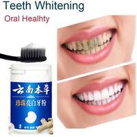 50g Natürliche Perle Zahnbürste Puder Entgiftung Zähne Aufheller Pflege neueZJHN