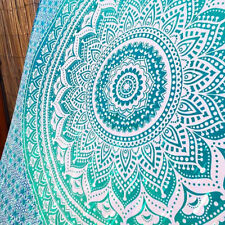 Ombre Bedspread Wall Hanging Decor Twin Bohemian Mandala Tapestry Throw Indian