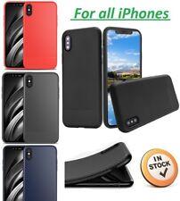 Soft TPU Shockproof Carbon Fiber Back Case Cover iPhone X Xs Max XR 8 7 6 Plus