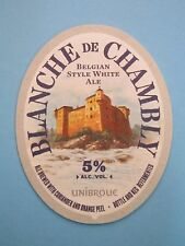 Beer Brewery COASTER >< UNIBROUE Blanche de Chambly White Ale <> Chambly, QUEBEC