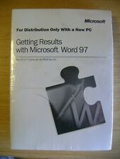 Microsoft Word 97 install CD and Manual - new and sealed
