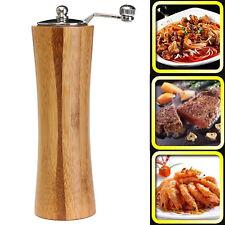Vintage Wooden Salt Spice Sauce Corn Shaker Pepper Mill Grinder Kitchen Tool New