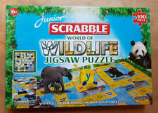 Junior Scrabble - World Of Wildlife Jigsaw Puzzle / Tinderbox Games - Ex Cond