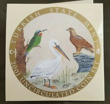 More details for *qwc* turkey - 2001 coin set - turkey's most special birds - with silver coin