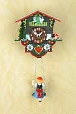 Schaukeluhr Swinging Doll clock cuckoo Chime Black Forest Made in Germany 2014sq