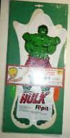 1977 Incredible Hulk FlipIt Balloon Toy sealed- Tilly Toys- 18 inches  8 inches
