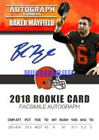 2018 BAKER MAYFIELD AUTOGRAPH EXPRESS FACSIMILE AUTO ROOKIE CARD EXTREMELY RARE
