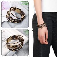 Leather Bangle  Magnetic Clasp Bracelet Bracelets & Bangles Wide Wristband
