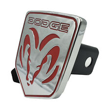 """Official Licensed Dodge Ram 1500 2500 3500 Chrome Tow Hitch Cover 2"""" Receiver"""