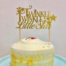 Cute Gold glitter Twinkle Twinkle Little Star Cake Topper Baby Shower