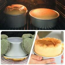 Round Mini Cake Pan Removable Bottom Pudding Mold DIY Baking Moulds C9G7