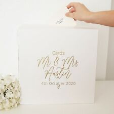 Personalised Card Box Post Box Wedding Engagement Christening Birthday Party