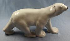 großer Eisbär porzellanfigur figur porzellan tier polarbear Lomonosov 6267