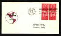 Canal Zone SC# 137 FDC / BK4 / Cacheted / Left Creasing - L1593