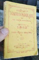 1882 ALMANACCO PAOLO MANTEGAZZA: PICCOLO DIZIONARIO DELLA CUCINA (GASTRONOMIA)