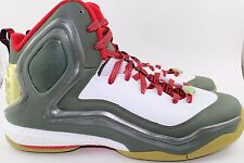 """ADIDAS D ROSE 5 BOOST """"YEAR OF THE GOAT"""" MEN SIZE 12.0 GREEN GOLD NEW RARE"""