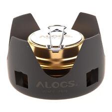 ALOCS Estufa del alcohol quemador alcohol mini ultra-ligera portatil Al aireG7Z4