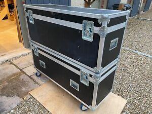 Large heavy duty wheeled flight/road/touring case/trunk, custom built, vgc