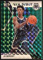 2019-20 Panini Mosaic Ja Morant NBA Debut Green Prizm RC #274 Memphis Grizzlies