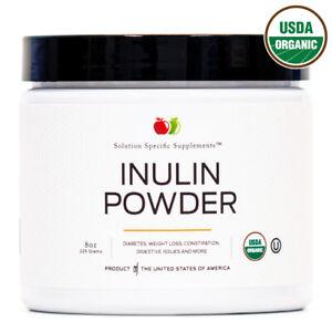 Organic Jerusalem Artichoke Inulin Powder - Bulk Prebiotic 6oz 60 Serving