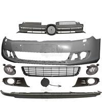 Set Stoßstange vorne+Nebel+Zubehör VW Golf VI 6 5K Bj.08-12 für PDC 4 Löcher SRA