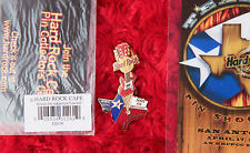 Hard Rock Cafe PINS lot & laminant San Antonio TEXAS Shootout GUITAR STATE FLAG