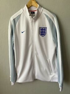 Nike England N98 Authentic Men's FOOTBALL  Track Jacket White Rare BNWT