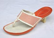 Clark's Orange / White Leather & Mesh Sandals Size 8.5