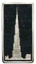 Burj Khalifa 2.5 Gram .999 Fine Silver Bar Only 300 AG Mint - Ex. Rare