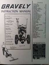 Gravely L Li Ls Walk-Behind Garden Tractor & Implement Owner & Parts Manual 1955