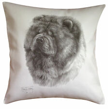 Chow Chow MS Breed of Dog Themed Cotton Cushion Cover - Perfect Gift