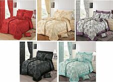 Jacquard Floral Traditional Chic Bedspread Quilted Comforter Throw- Panache