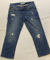 Aeropostale Denim Jeans Size 00 Crop Capri Distressed