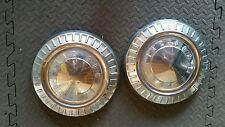1950's Pontiac Dog Dish Small Hub Caps 2 good condition