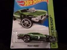 HW HOT WHEELS 2014 HW WORKSHOP #205/250 PROJECT SPEEDER HOTWHEELS GREEN VHTF