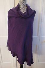 Nice Portolano Cashmere Ruffled Shawl – Purple/Wild Plum – NWT - $670