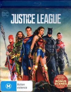 Justice League - Ben Affleck, Henry Cavill, Gal Gadot, Jason Mamoa- Mint Blu-ray