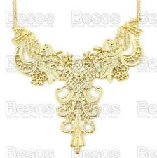 ORNATE FILIGREE statement GOLD FASHION NECKLACE choker BIB COLLAR uk GIFT BOX