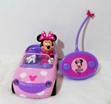 New listing Disney Junior Minnie Mouse Roadster Car Rc Remote Control Toy Vehicle Pink Dot