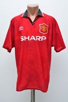 MANCHESTER UNITED 1994/1996 HOME FOOTBALL SHIRT JERSEY UMBRO SIZE XL ADULT