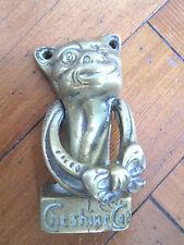 Old brass Cheshire Cat door knocker