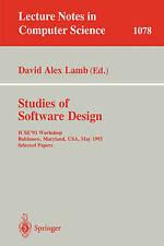 Studies of Software Design: ICSE'93 Workshop, Baltimore, Maryland, USA, May (17-