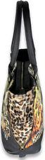 Liquor Brand HORROR SAD GIRL Skull Tattoo Leo Fake Fur BAG Tasche Rockabilly