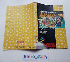 Super Nintendo SNES Super Mario All Stars Notice / Instruction Manual
