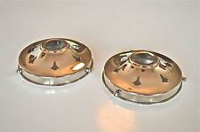 PAIR OF CLASSIC STYLE CHROME GLASS LIGHT SHADE GALLERY 4 1/4 INCH LAMP SHADE NR9