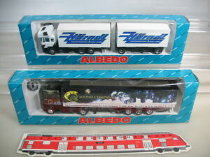 K530-0, 3 #2x Albebo H0 297005 Renault At Sound Company, 297001 Man Hörndl, Box