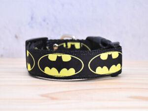 Batman Dog Collar Pet Collars Adjustable Super Hero Comic Dog Collar Handmade